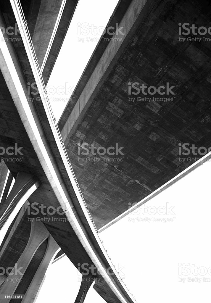 San Diego Freeway Overpass royalty-free stock photo