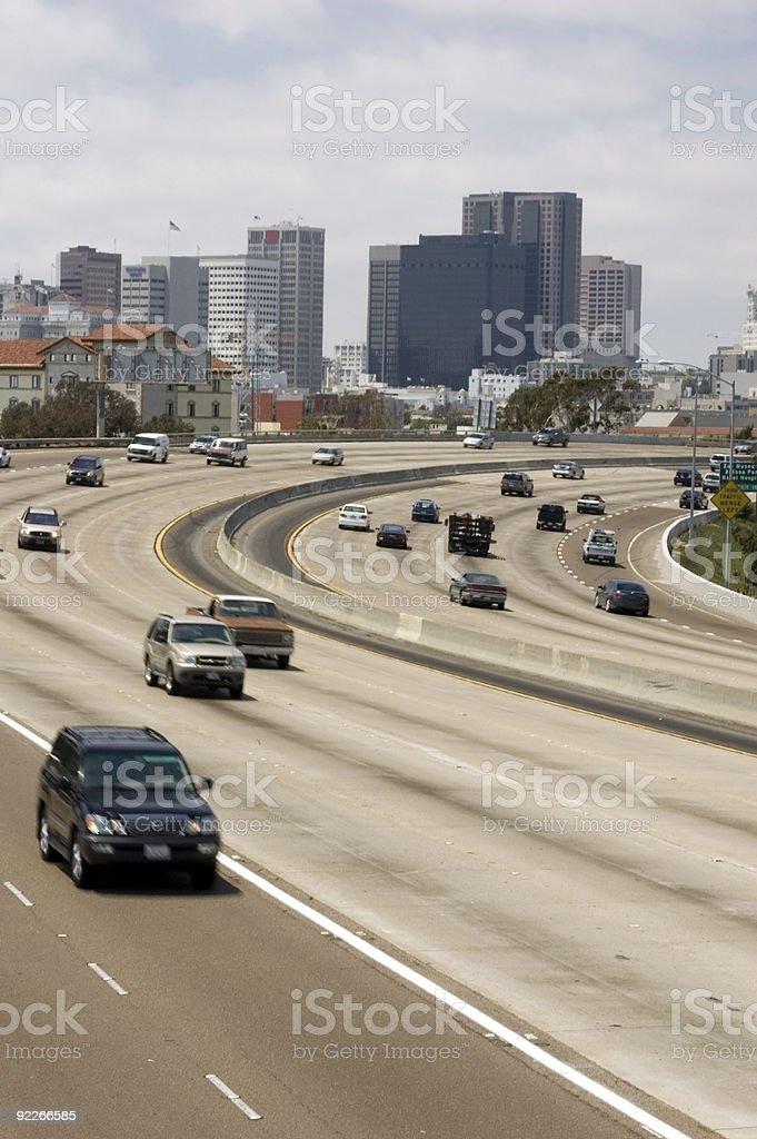 San Diego Freeway stock photo