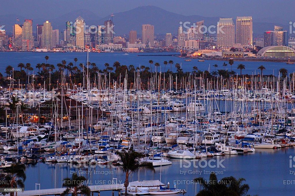 San Diego Harbor and City stock photo