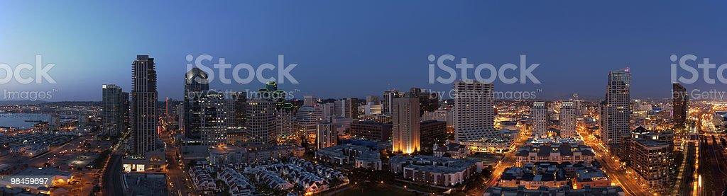 Porto di San Diego al tramonto foto stock royalty-free