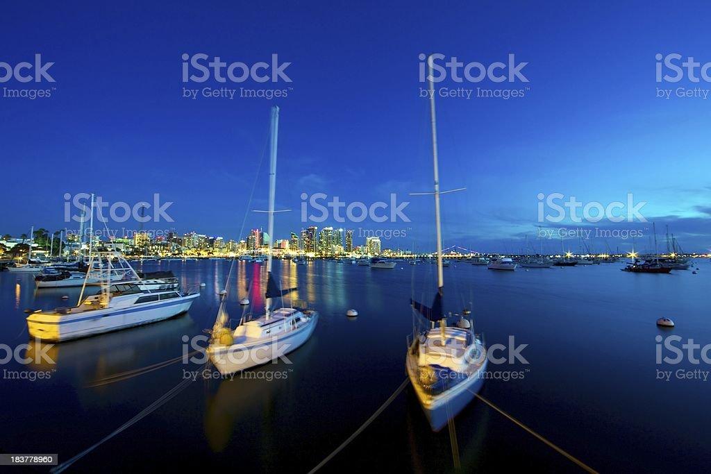 San Diego Harbour in der Dämmerung – Foto