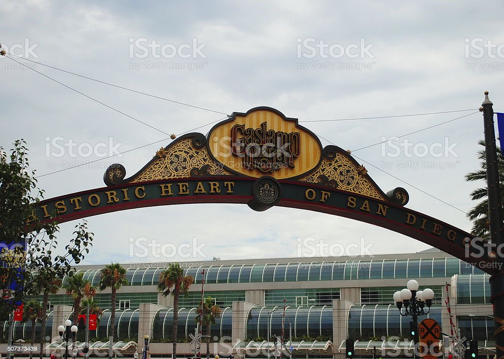San Diego Historic Gaslamp Quarter stock photo
