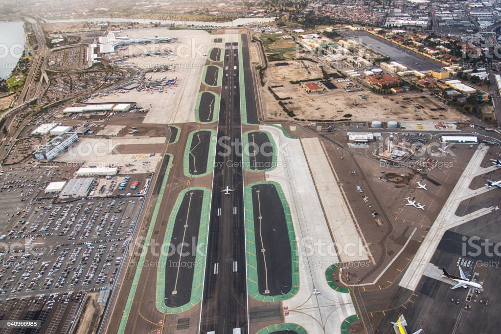 San Diego International Airport Aerial stock photo