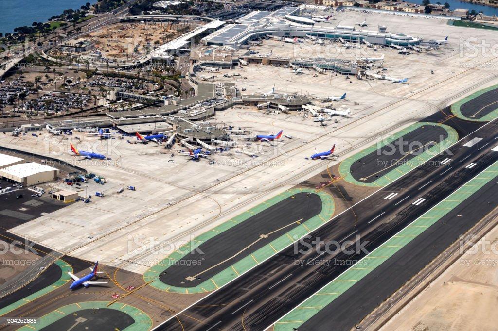 San Diego International Airport stock photo