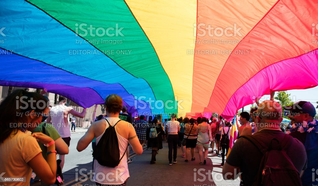 San Diego LGBT Pride Parade, San Diego Downtown, California, USA, July 17th, 2016 stock photo
