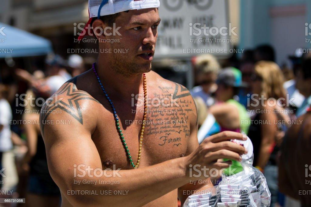 San Diego LGBT Pride Parade, San Diego Downtown, California, USA, July 17th, 2016 stock photo