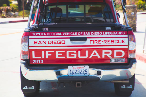 San Diego Lifeguard Truck Stock Photo & More Pictures of