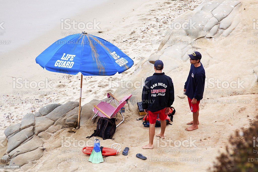 San Diego Lifeguards royalty-free stock photo