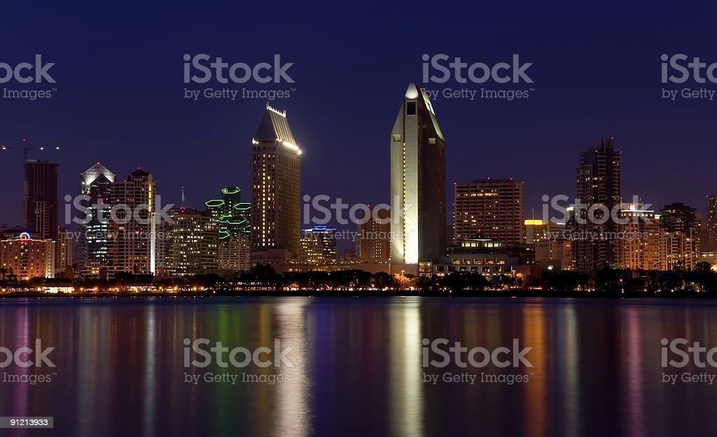 San Diego lights stock photo