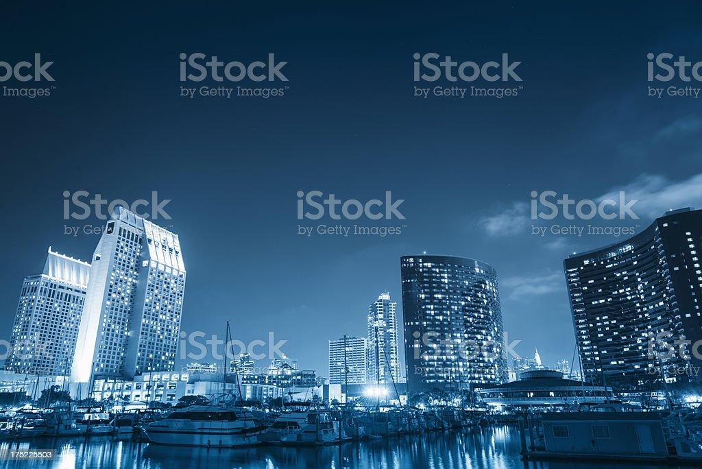 San Diego marina bay royalty-free stock photo