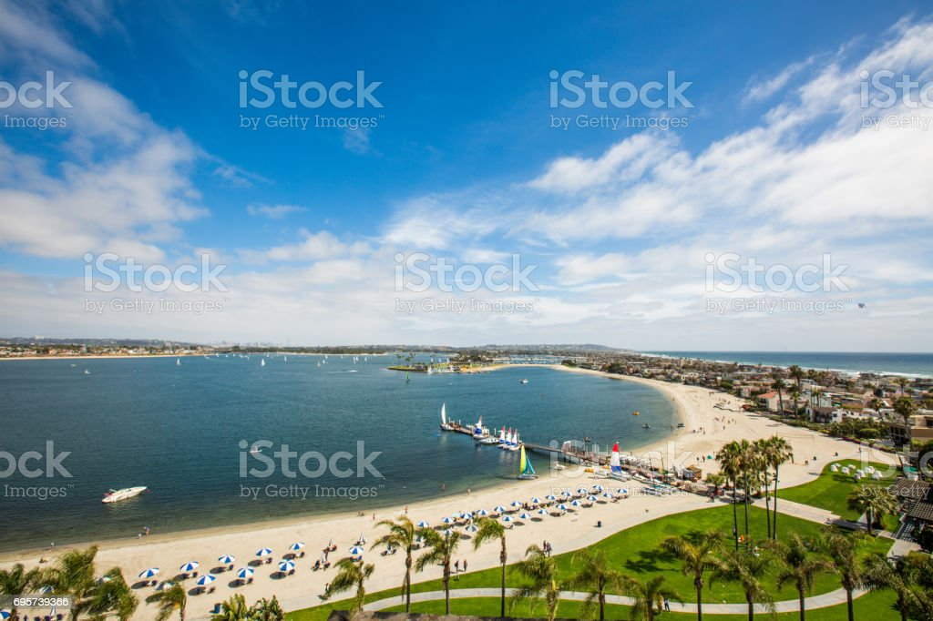 San Diego Mission Bay and Beach stock photo