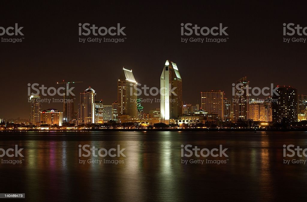 San Diego @ Night 2 stock photo