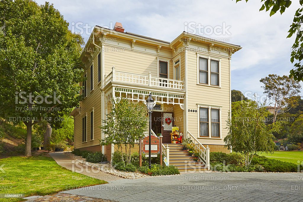 San Diego Old Town McConaughy House, Heritage Park royalty-free stock photo