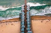 San Diego Pacific beach dock aerial view, USA west coast