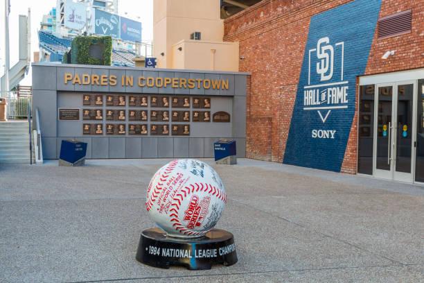 San Diego Padres Hall of Fame Plaza stock photo