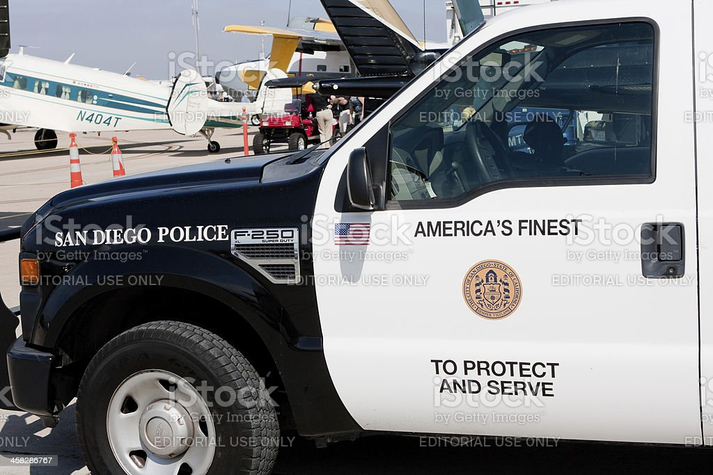 San Diego Police Truck stock photo