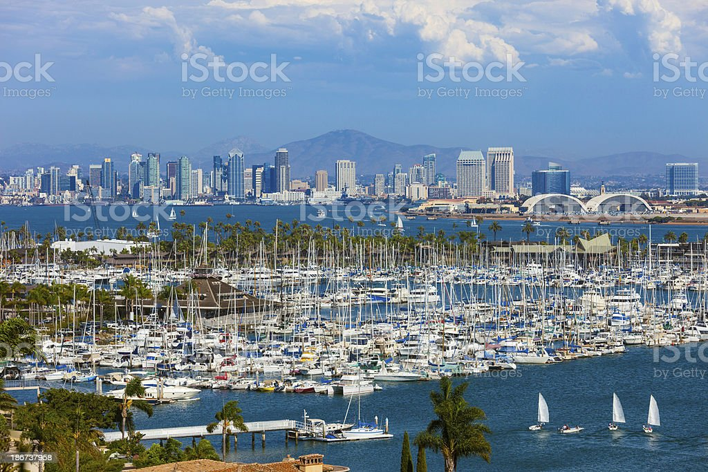 San Diego skyline and bay, California royalty-free stock photo