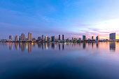 Morning skyline of San Diego  California