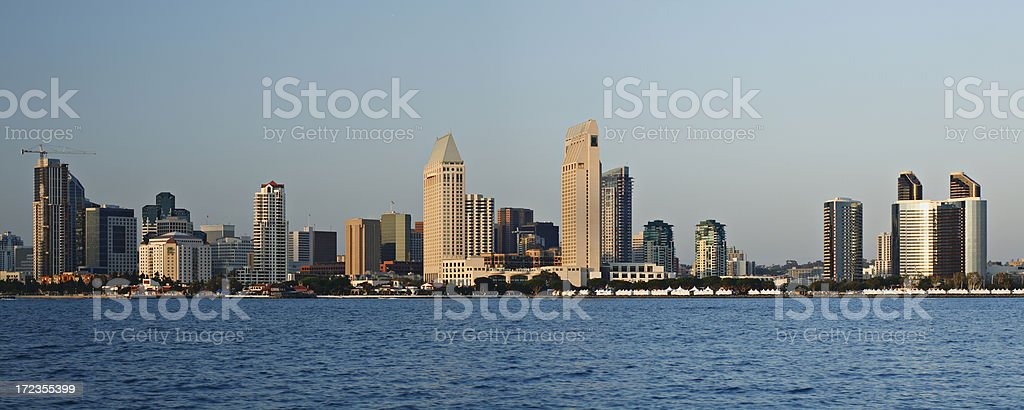 San Diego Skyline at sunset royalty-free stock photo
