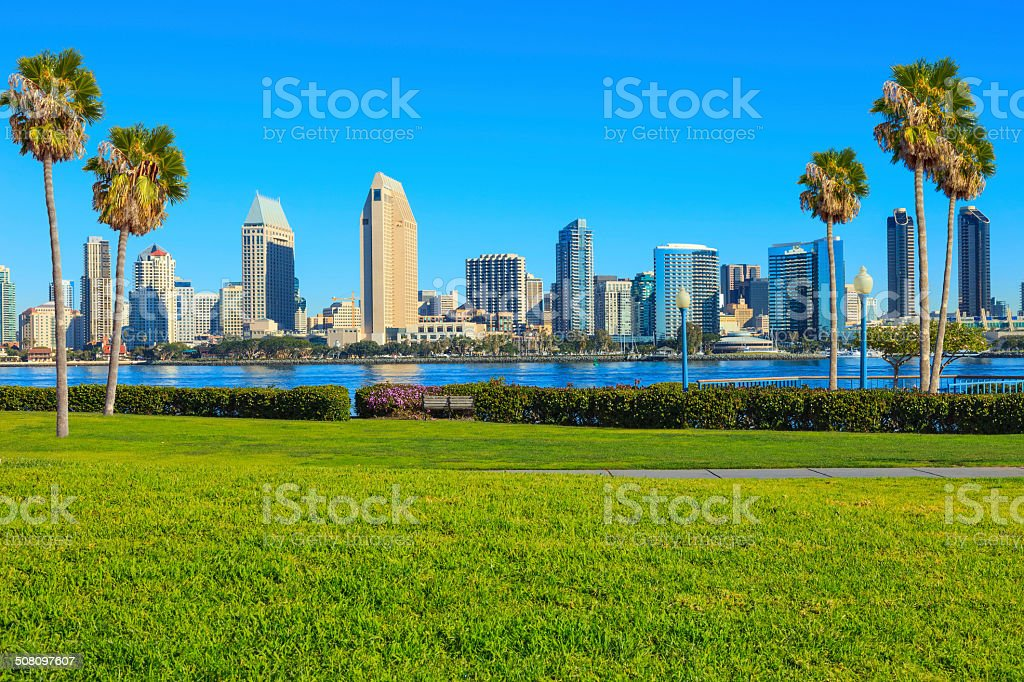 San Diego Skyline, CA stock photo