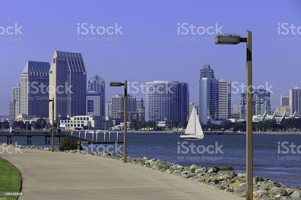 San Diego Skyline, California royalty-free stock photo