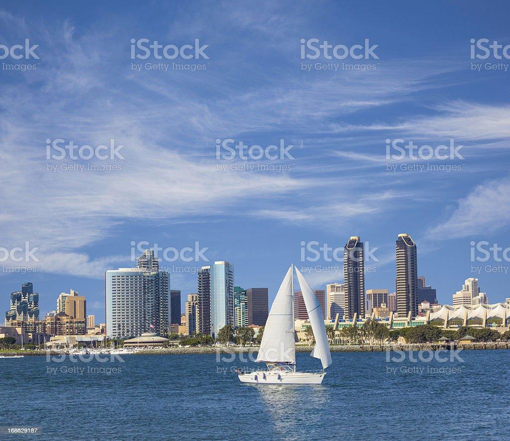 San Diego Skyline, California (P) royalty-free stock photo