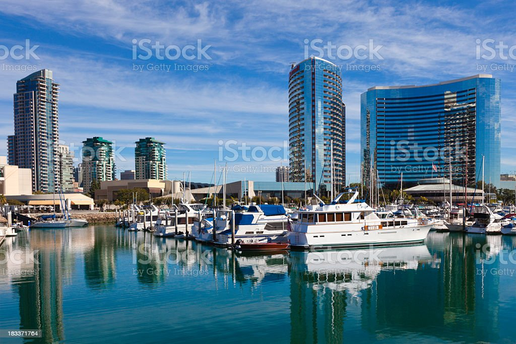 San Diego Skyline, California royalty-free stock photo