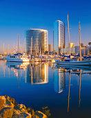 City Skyline Of San Diego With Marina, California