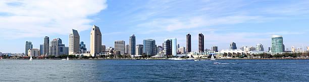 San Diego Skyline Downtown Panorama stock photo