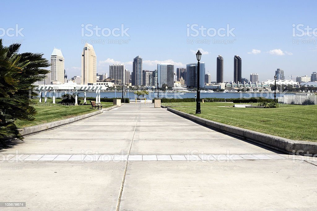 San Diego Skyline in the Afternoon royalty-free stock photo