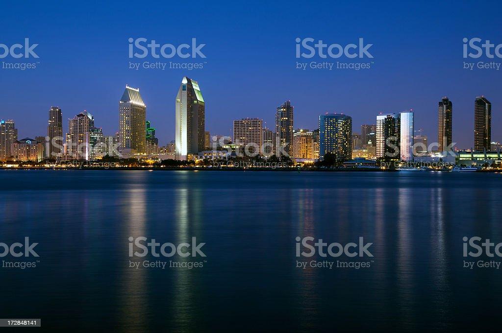 San Diego skyline in twilight royalty-free stock photo