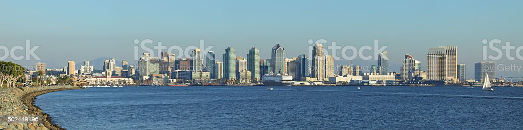 San Diego Skyline Panorama stock photo