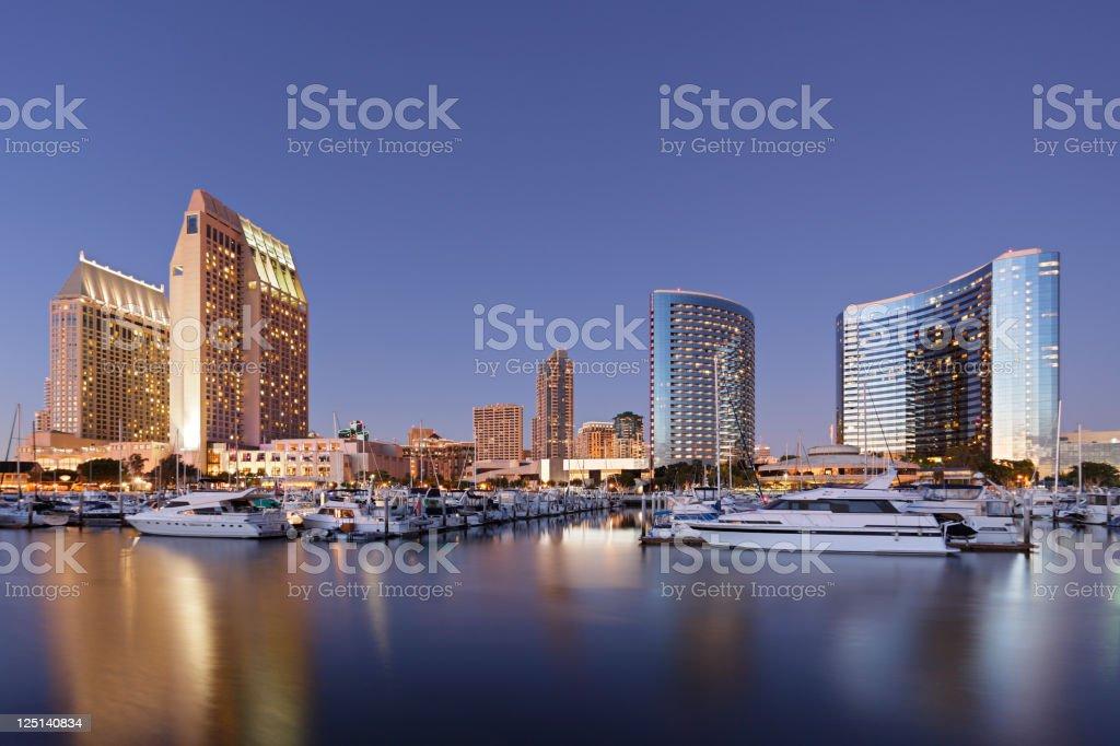 San Diego Skyscrapers and Marina stock photo