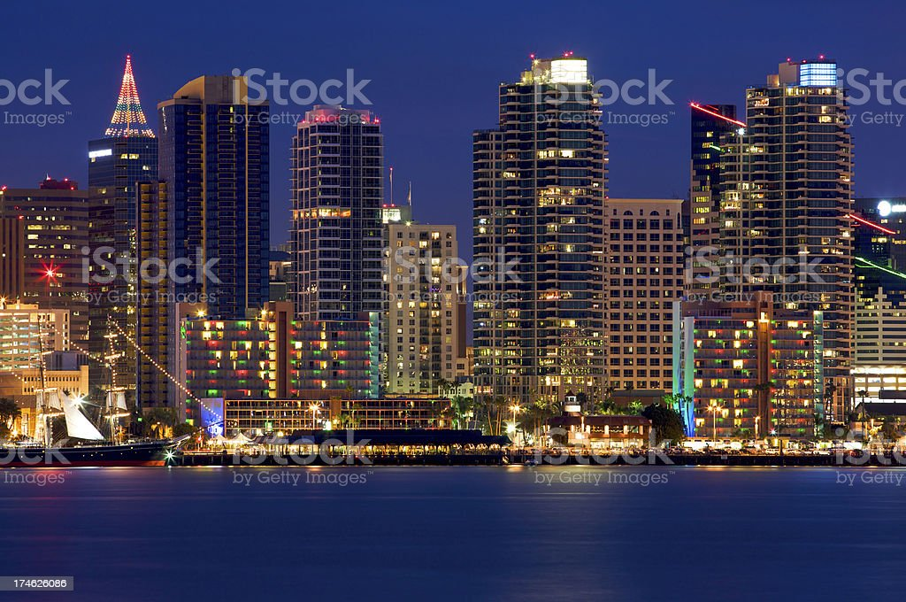 San Diego Skyscrapers royalty-free stock photo