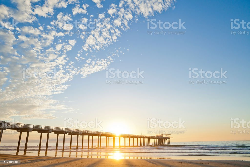 San Diego Sunset stock photo
