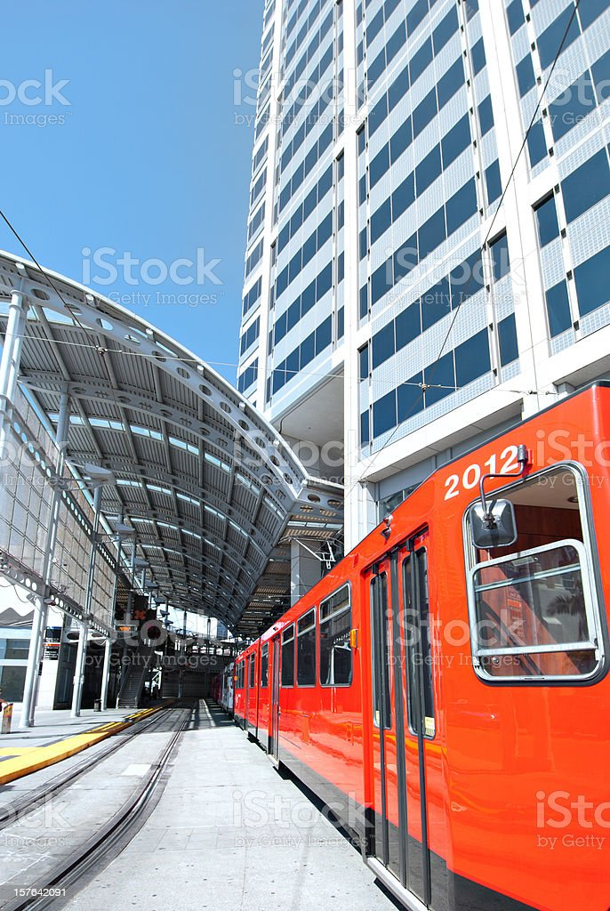 San Diego Tramway in Station royalty-free stock photo