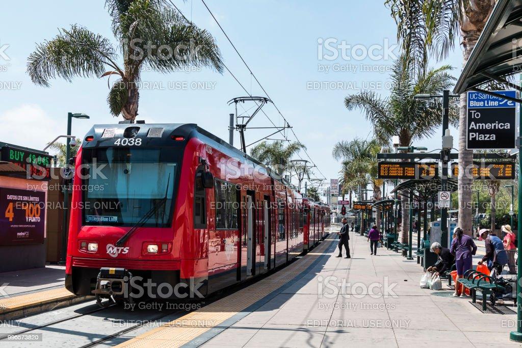 Tijuana, Baja California/Mexico - June 20, 2018: The San Diego...