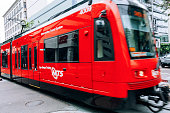 San Diego, CA, USA - May 31, 2016: San Diego trolley on the move