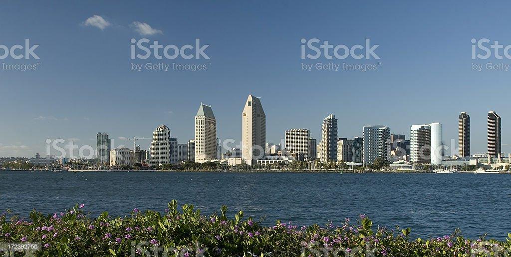 San Diego Waterfront Skyline royalty-free stock photo