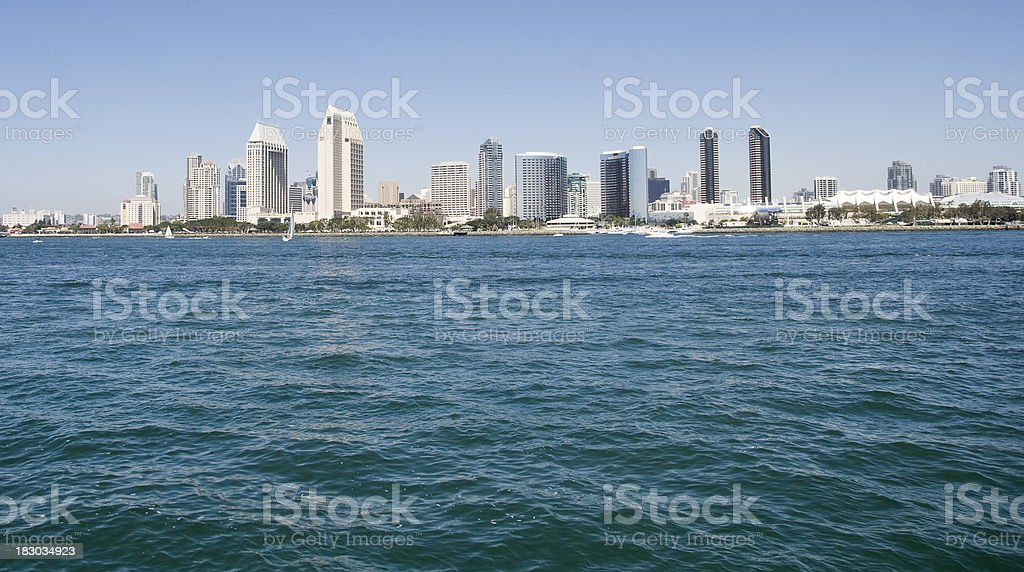 San Diego Waterfront Skyline stock photo