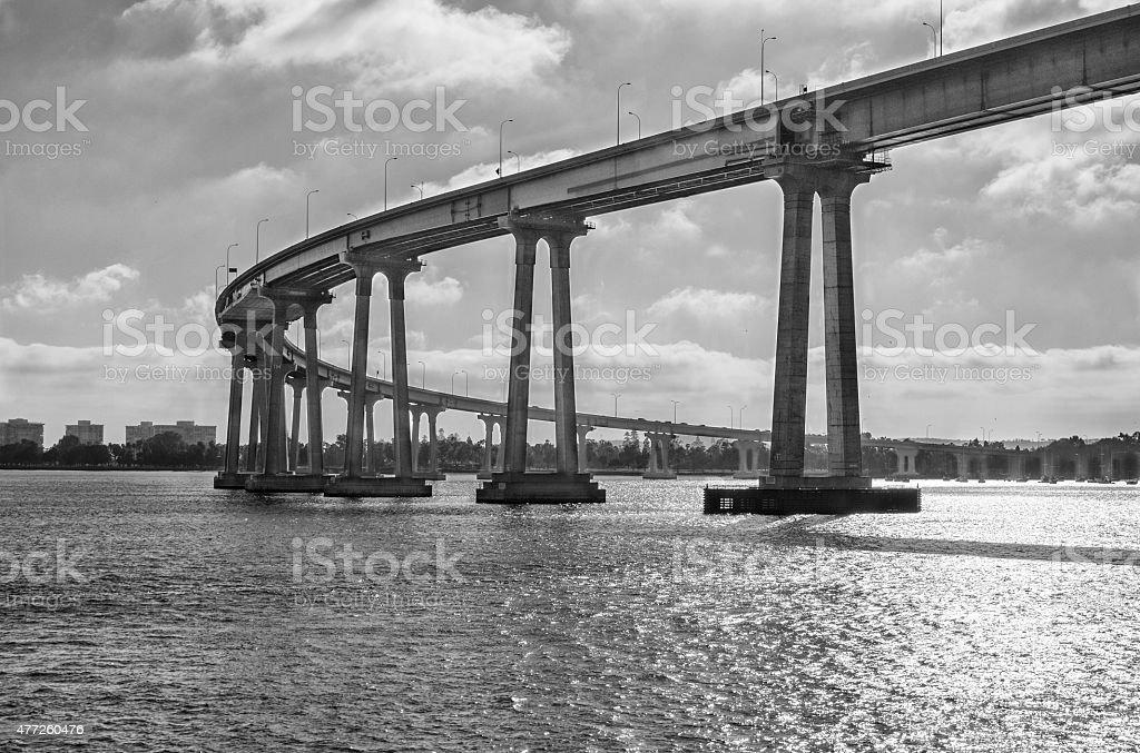 San Diego–Coronado Bridge stock photo