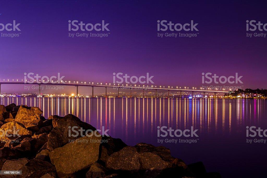 San Diego-Coronado Bridge stock photo