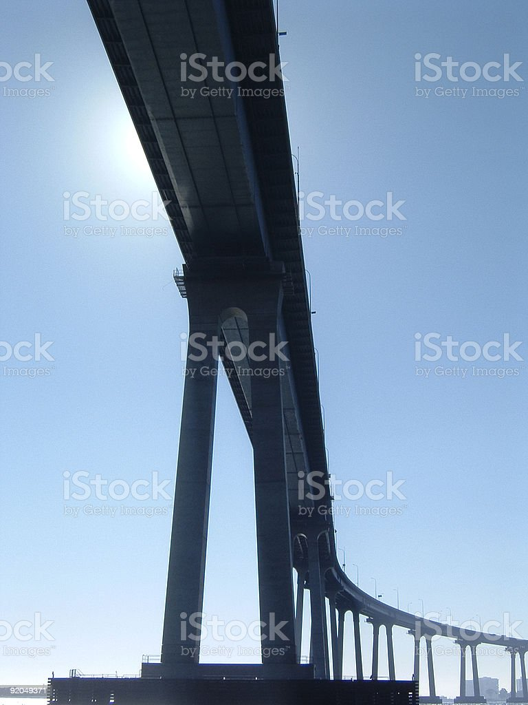 San Diego-Coronado Bridge-series stock photo