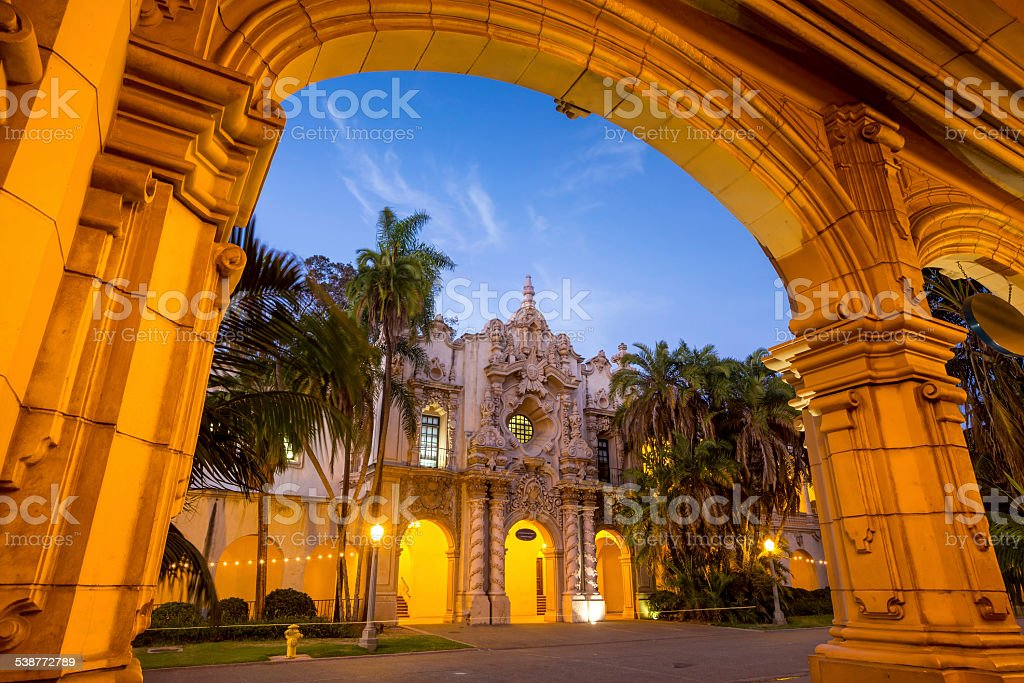 San Diego's Balboa Park  in San Diego California stock photo