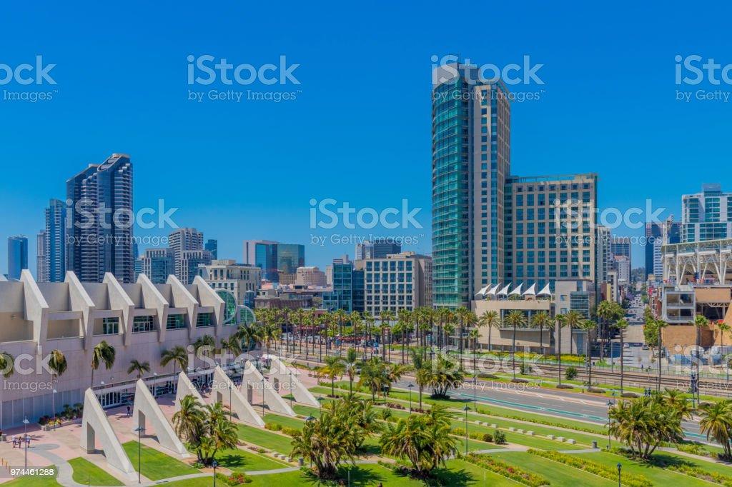 Der Innenstadt San Diegos mit Kongresszentrum – Foto
