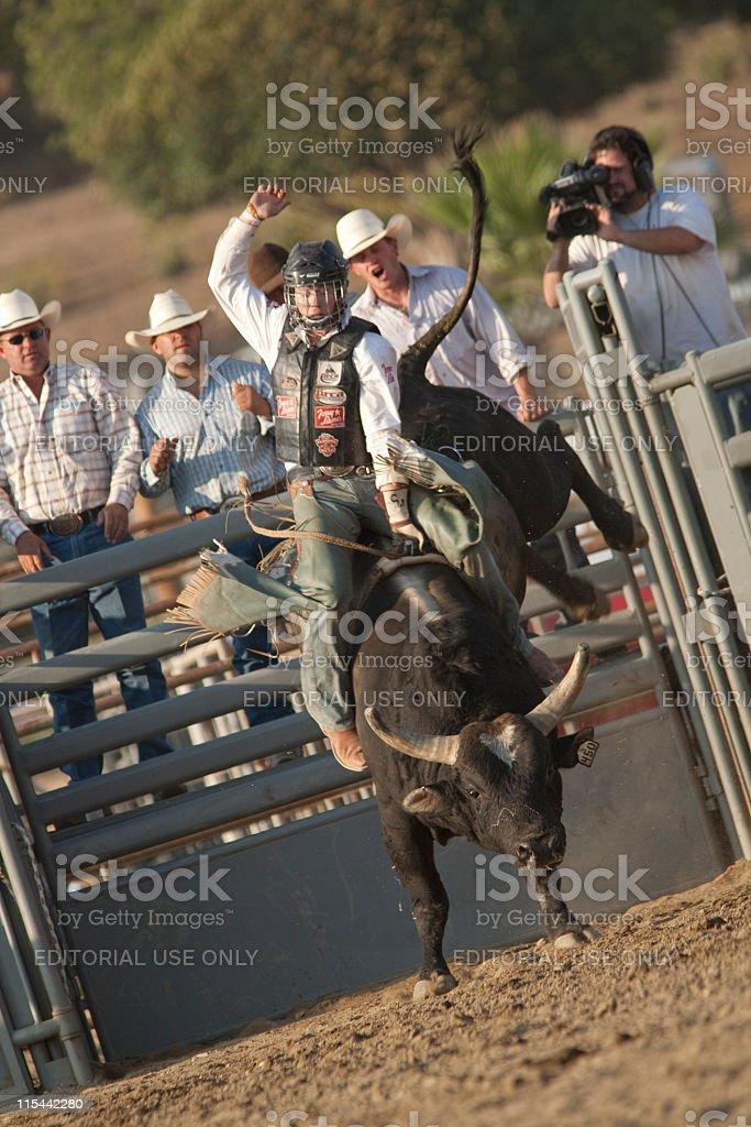 San Dimas Bull Riding stock photo