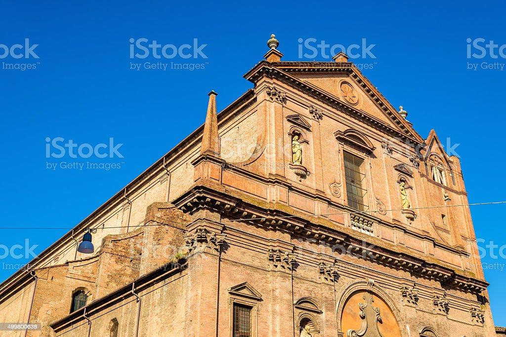 San Domenico church in Ferrara - Italy stock photo