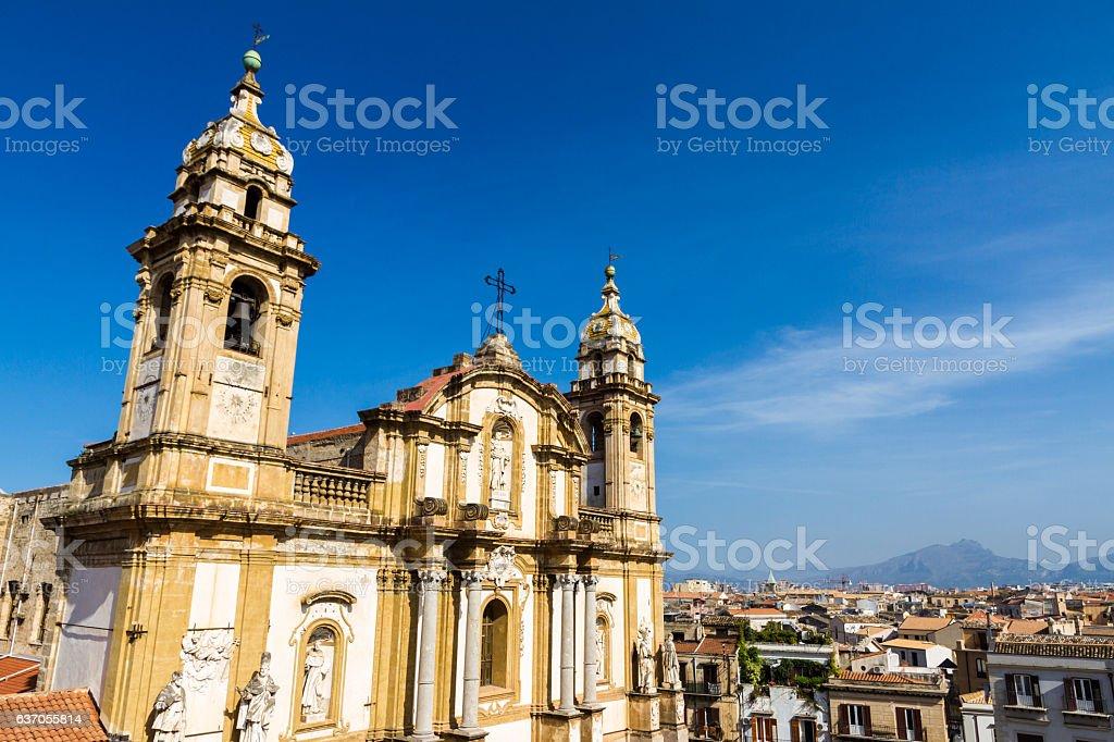 San Domenico Church in Palermo, Italy stock photo