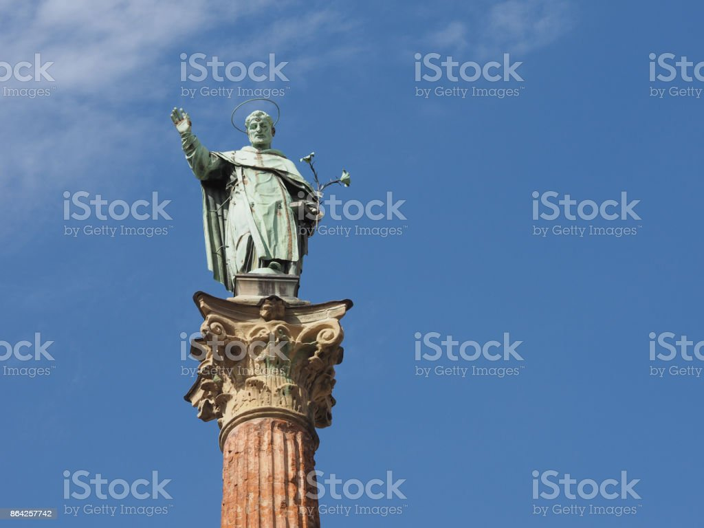 San Domenico column in Bologna royalty-free stock photo