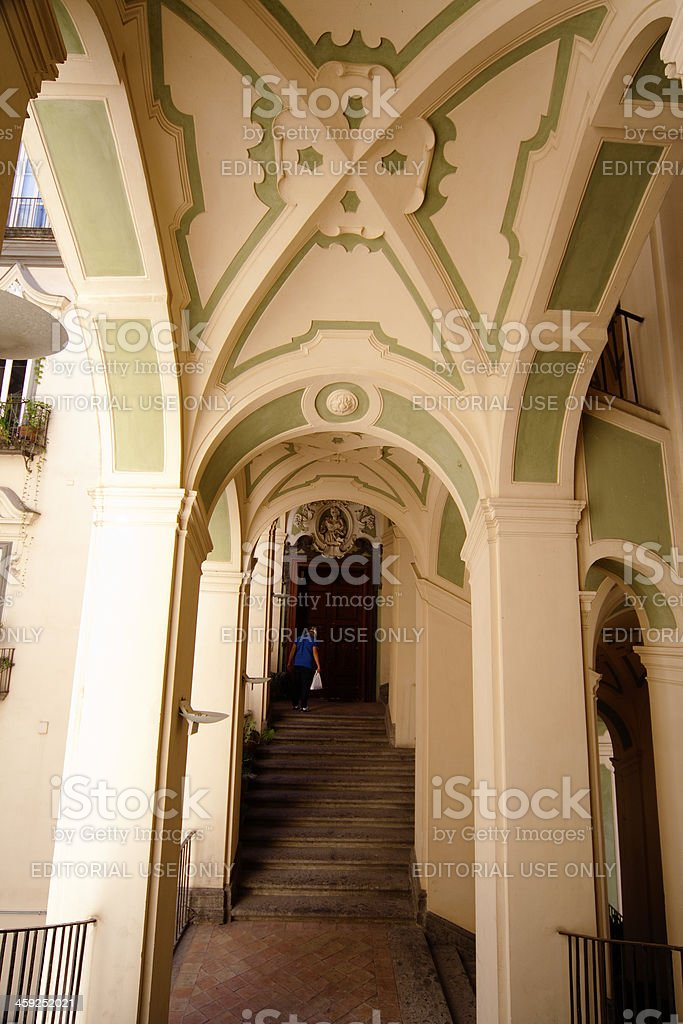 San Felice building in Naples, Italy stock photo